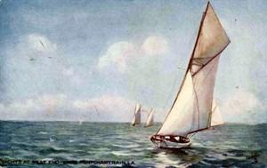 1911 Postcard - Sailing on Lake Pontchartrain
