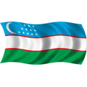 Wavy Uzbekistan Flag