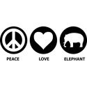 Peace Love Elephant