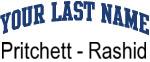 Blue Surname Design Pritchett - Rashid