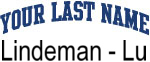 Blue Surname Design Lindeman - Lu