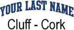 Blue Surname Design Cluff - Cork