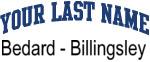 Blue Surname Design Bedard - Billingsley