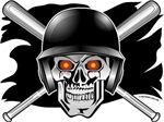 Skull and Crossbones Baseball
