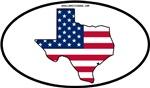 Texas Shape USA Flag