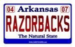 AR License Plate (RAZORBACKS)
