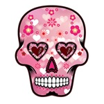 CANDY SKULL-PINK HEART
