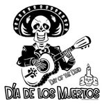 Dia de los Muertos-Day of the dead-mariachi guitar