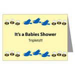 Triplet Babies Shower Invitation