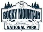 Rocky Mountain National Park Blue Sign Design