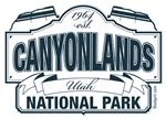 Canyonlands National Park Blue Sign
