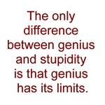 Genius vs. stupidity