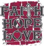 Throat Cancer Faith Hope Love Shirts