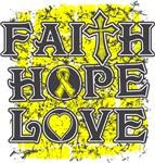 Ewings Sarcoma Faith Hope Love Shirts