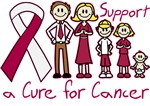 Throat Cancer Support A Cure Shirts