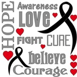 Skin Cancer Hope Words Shirts