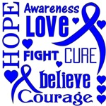 Colon Cancer Hope Words Shirts