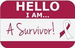 Throat Cancer Hello I'm A Survivor Shirts