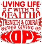 Heart Disease Living Life With Faith Shirts