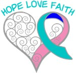 Thyroid Cancer Hope Heart Shirts