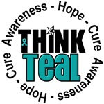Ovarian Cancer Think Teal T-Shirts & Gifts