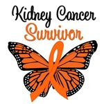 Kidney Cancer Survivor Butterfly T-Shirts & Gifts