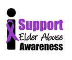 I Support Elder Abuse Awareness T-Shirts