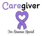Caregiver Purple Ribbon T-Shirts & Gifts