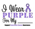 I Wear Purple Pancreatic Cancer Shirts (Grunge)