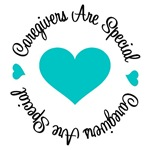 Caregivers Are Special Teal Ribbon Shirts & Gifts