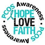 PCOS Hope Love Faith Shirts & Gifts