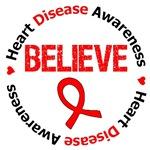 Heart Disease BELIEVE Shirts & Gifts