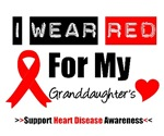 I Wear Red Granddaughter Heart Disease Shirts
