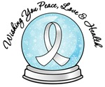 Bone Cancer Snowglobe Ribbon Shirts