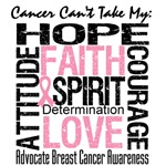 Breast Cancer Can't Take My Hope Shirts & Gifts