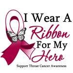 Throat Cancer I Wear Ribbon