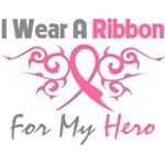 Breast Cancer I Wear Ribbon Hero (Tribal)