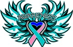 Thyroid Cancer Heart Wings Shirts