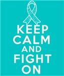 Gynecologic Cancer Keep Calm Fight On Shirts