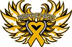 Appendix Cancer Heart Wings Shirts
