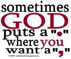 God Puts a Period