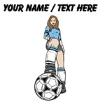 Custom Female Soccer Player