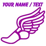 Custom Purple Winged Running Shoe