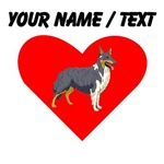 Custom Collie Heart