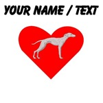 Custom Whippet Heart