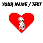 Custom Dalmatian Puppy Heart