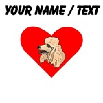 Custom Poodle Heart