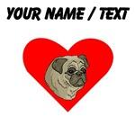 Custom Pug Heart