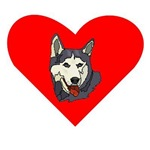 Siberian Husky Heart