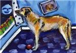 ANATOLIAN SHEPHERD Dog whimsical art!